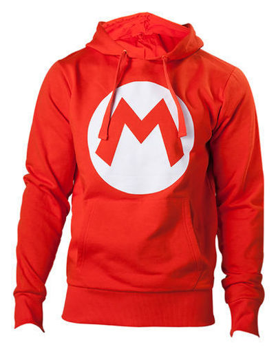 Изображение Red Hoodie with M logo in front