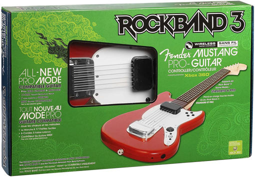 Rock Band 3 Wireless Mustang Pro Guitar- Red (Xbox 360)