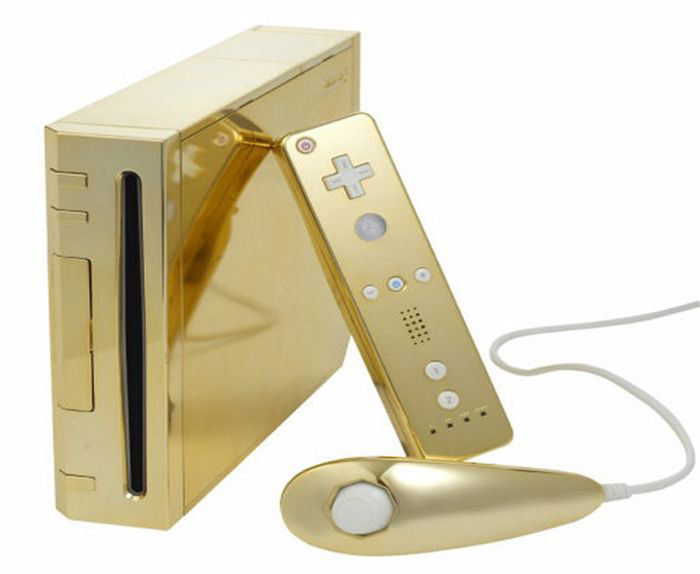 Wii Console Gold- Pro Upgraded