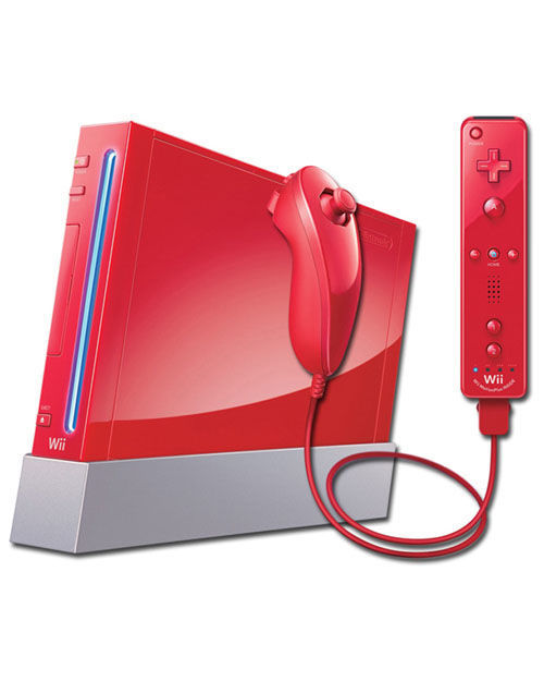 Wii Console Red - Pro Upgraded