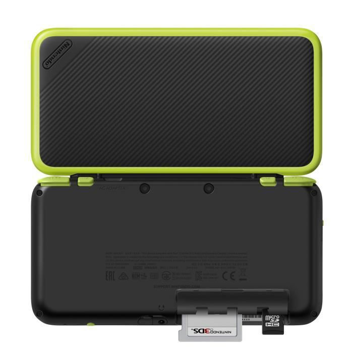 New 2DS XL console Black - Lime green + Mario Kart 7