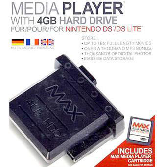 Media Player with 4GB Hard Drive for Nintendo DS