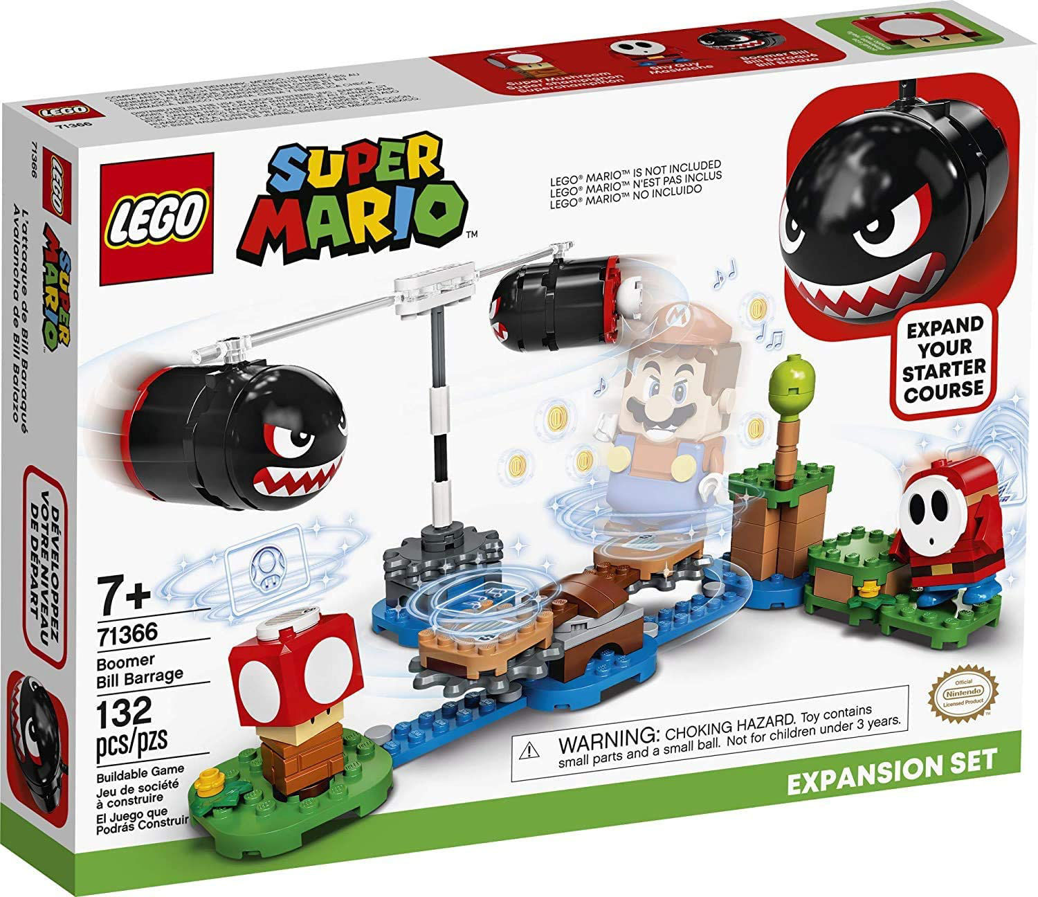 Picture of LEGO Super Mario Boomer Bill Barrage Expansion Set (71366)
