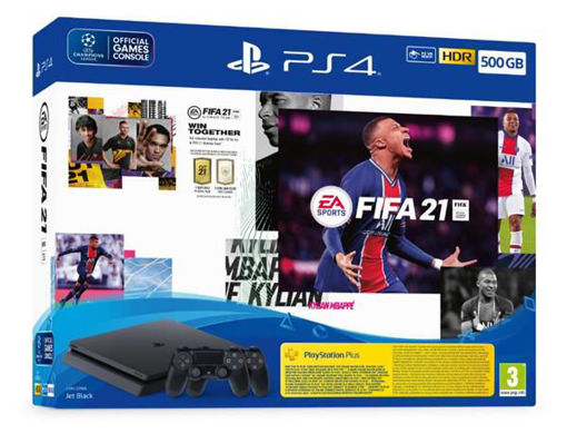 Picture of קונסולת Playstation 4 Slim 500GB + FIFA 21+ 2 Controllers